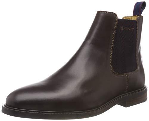Gant Ricardo, Stivali Chelsea Uomo Marrone (Dark Brown G46)