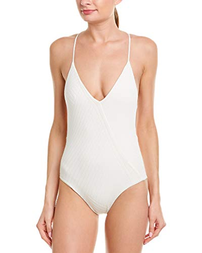 LSpace Women's Blair Textured X-Back One Piece Swimsuit Swimsuit Cream 8