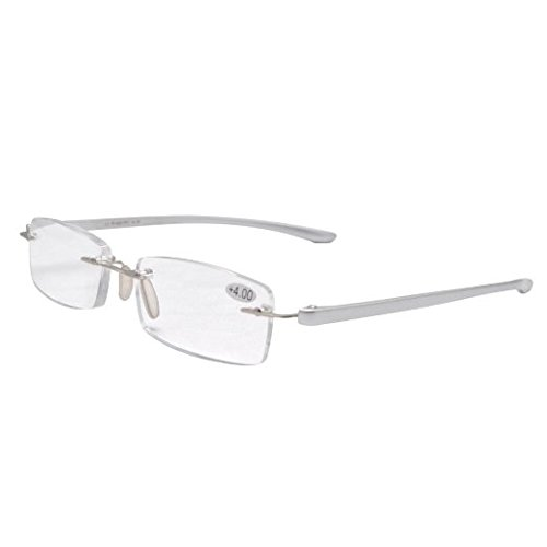 Eyekepper Readers Small Lenes Rimless Reading Glasses Silver Men - Men Glasses Silver