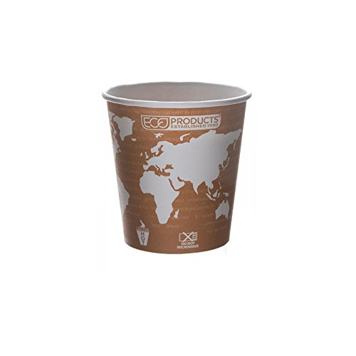 Eco-Products World Art Renewable & Compostable Hot Cups, 10 oz, Case of 1000 ()
