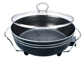 Amoz multi-purpose pot grilled fried sk35c electric wok