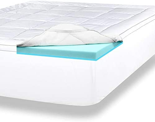 ViscoSoft 4 Inch Pillow Top Gel Memory Foam Mattress Topper Full Serene Dual Layer Mattress Pad