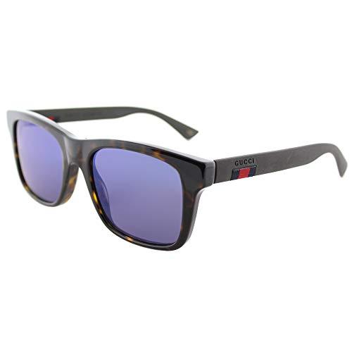 Gucci GG0008S 003 Havana 0008S Rectangle Sunglasses Lens Category 3 Lens ()