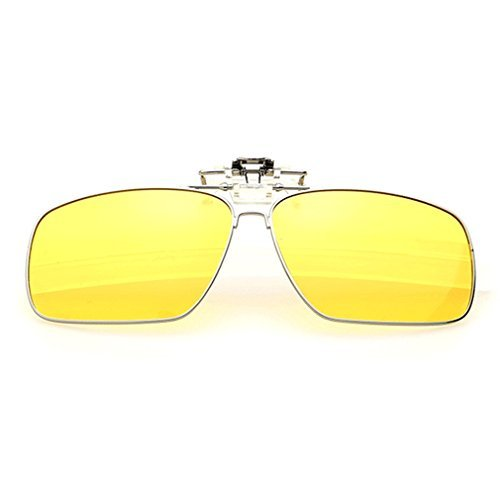 A-Royal Fashion Retro Square Myopia Polarized Clip-on Flip up Driving Fishing Sunglasses - 1940s Style Sunglasses