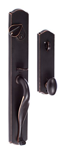SURE-LOC WS507-SR 11P Entry Rustic Series Wasatch Handleset with Slickrock Knob Interior Trim, Vintage Bronze ()
