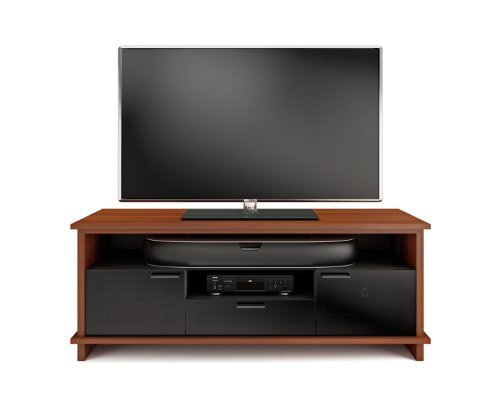 BDI Braden 8828 Triple Wide Enclosed TV Cabinet (Natural Stained Cherry) (Cherry Cabinet Bdi)