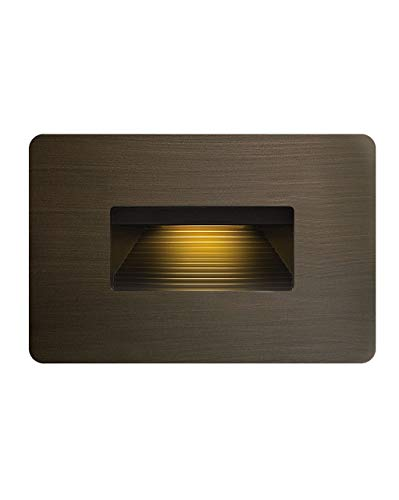 Hinkley Landscape Lighting LED Luna Step Light - Add Safety and Security Indoors and Outdoors, ADA Compliant and Energy Efficient Small Step Light, Matte Bronze, 15508MZ