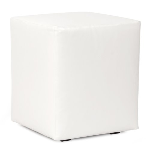 Howard Elliott Q128-944 Universal Cube Patio Ottoman, Atlantis White