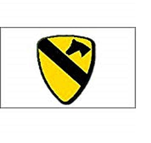 US Army 1st Cavalry Flag 3x5 ft Logo Insignia United States First Cav Calvary Vivid Color and UV Fade Resistant Canvas Header and Double Stitched polyester -