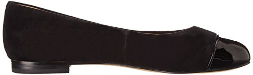 Trotters Womens Chic Leather Ballet Flat Black Suede
