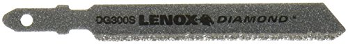 (Lenox Tools 12149DG300S Single Jig Saw Blade with T-Shank and Diamond Grit)