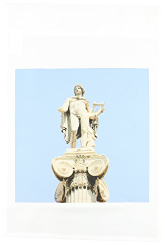 3dRose fl_81841_1 Greek Mythology, Apollo Statue at Athens Academy, Greece-EU12 PRI0051-Prisma Garden Flag, 12 by 18-Inch ()