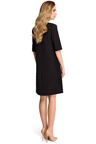 Kleid Kleid Schwarz Clea mit Spitzenstreifen Clea mit qUgwxtY