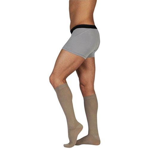 Juzoメンズダイナミックコットン15 – 20 mmHg膝高圧縮ソックスカラーネイビー、サイズ: III、標準by Juzo B013XRKAOW