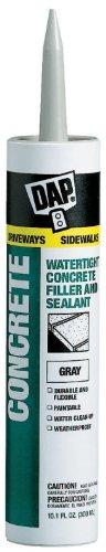 Dap 18021 Concrete and Mortar Watertight Filler and Sealant - Gray 10.1-oz Cartridge (Concrete Crack Filler)