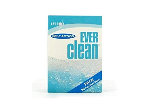 Avizor Ever Clean Without Preservative Cleaning, Disinfecting and Total Protein Removal System - 2 X 350 Millilitre 90 Tabs - 90 Days
