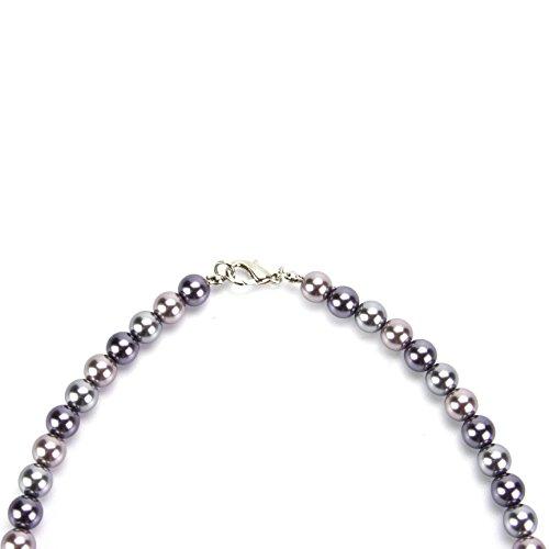 Bijoux Femme Gris Collier de perles
