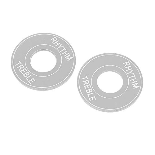 Guitar Toggle Switch Washer, Aluminum Plate Rhythm Treble Washer Ring for Electric Guitar(Silver)