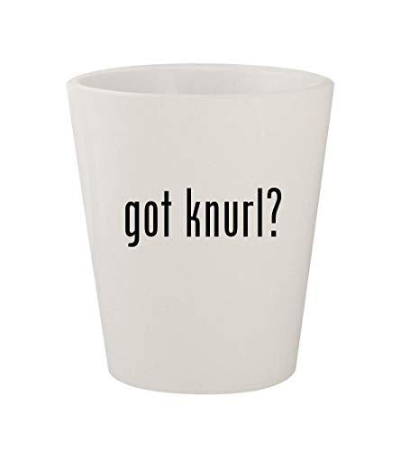 got knurl? - Ceramic White 1.5oz Shot Glass