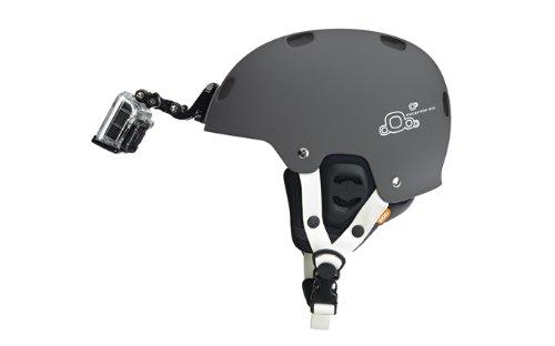 gopro frontale per casco + Kit laterale, include fibbia a gancio a J, clip rapida, 3m adesivi. Compatibile con Gopro Hero 8, 7, 6, 5, 4, 3, 2, session, Apeman, Crosstour, Victure, akaso, campark 4 spesavip