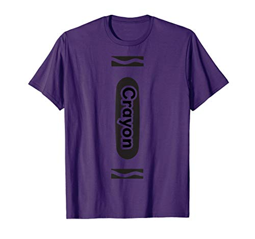 Purple Crayon Tshirt Halloween Group Costume Easy DIY Funny -
