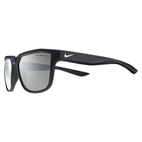 Nike Golf Fly Sunglasses, Matte Black/Silver Frame, Grey with Silver Flash - Nike Sale Shades