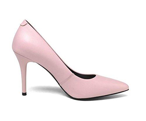 lavoro Scarpe taglia pelle donna tacco in 35 a con 38 ricamato da a GAOGENX da vera EU37 scarpe spillo pOw6qAxHWd