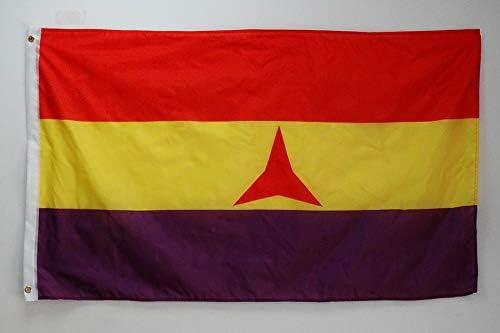 AZ FLAG Bandera ESPAÑA Republicana BRIGADAS INTERNACIONALES 150x90cm - Bandera DE LA Republica ESPAÑOLA 90 x 150 cm: Amazon.es: Jardín