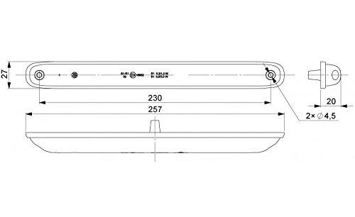 24/V 1 troisi/ème feu stop arri/ère Pour tout type de v/éhicule 12 LED Rouge 12/V