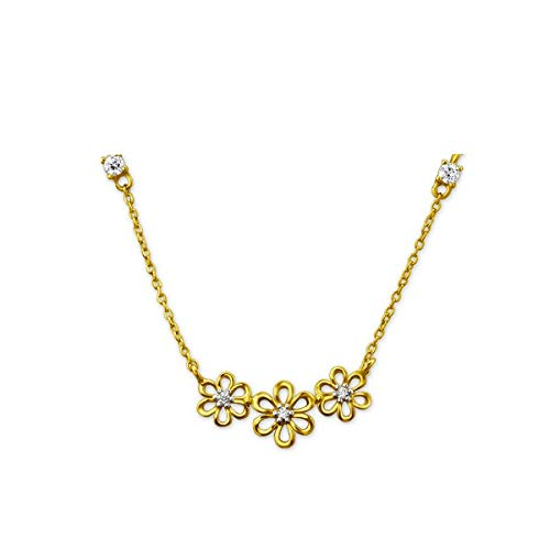 L&N NECKLACE THREE FLOWER - 925 Sterling Silver