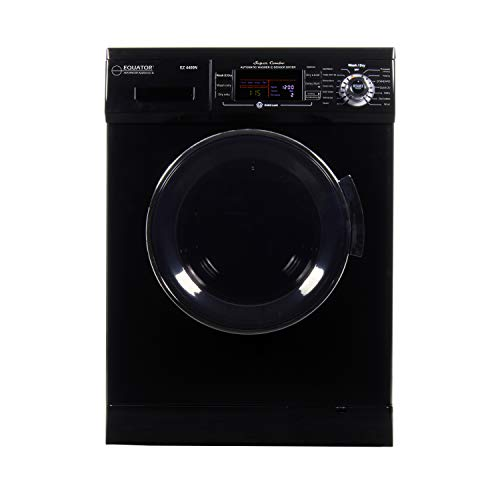 All-in-one 1200 RPM New Version Compact Convertible Combo Washer Dryer with Fully Digital Easy to use Control Panel in Black