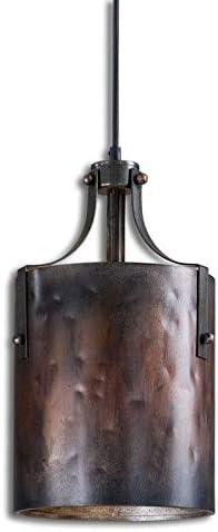 Uttermost Akron 1 Light Mini Pendant in Wash Copper