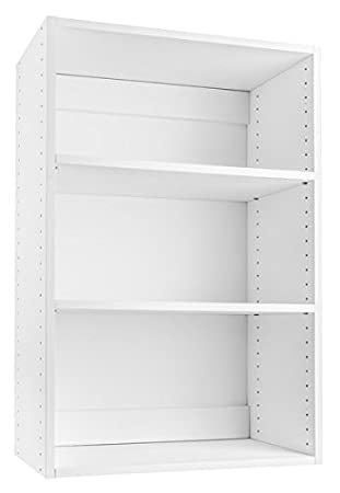 Modular Closets Stackable Wood 18u0026quot; Wide 3 Shelf Closet Organizer, ...