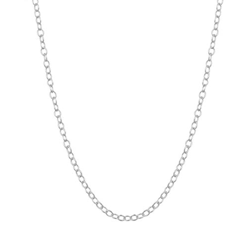 1pc Top Quality 16 inch Sterling Silver Cable Necklace Chain w/Clasp for Jewelry Making (1.2mm width, Strong) SS160 -