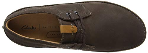 Marrone Oakland dark Brown Derby Scarpe Stringate Leather Lace Uomo Clarks HUwYqFdn