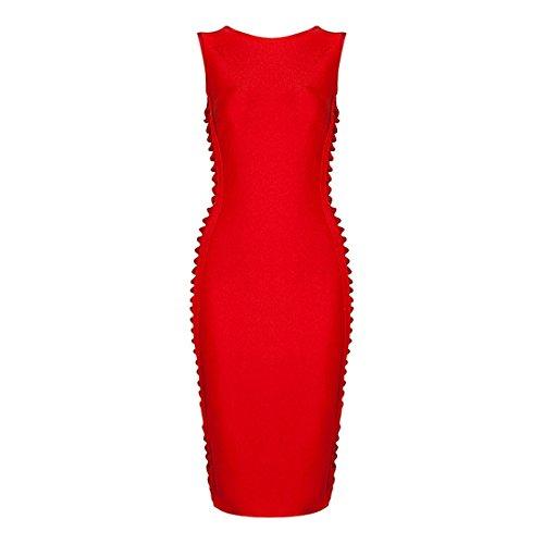 rot Damen Rot HLBCBG rot 36 Kleid xnqa67wARY