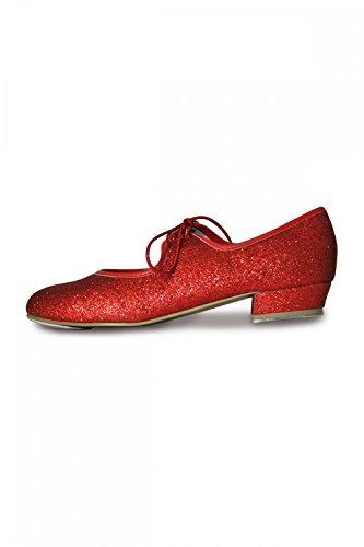 Roch Valley Dorothy - Zapatos de claqué con purpurina, color rojo rojo - rosso