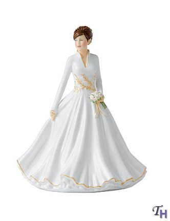 (Royal Doulton Ladies Figurine Winter Wonderland, 6.7