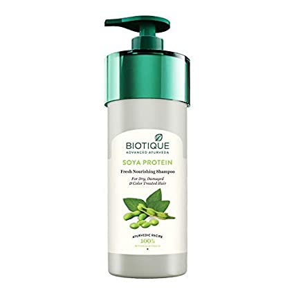 Biotique Bio Soya Protein Fresh Nourishing Shampoo For Dry, Damaged and Color Treated Hair, 800ml
