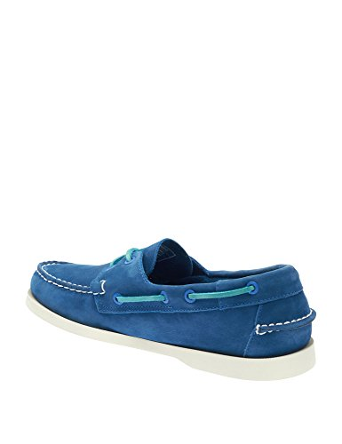 Sebago Mens Mens Docksides Blue Nubuck Leather Shoes Leather Blue nubuck