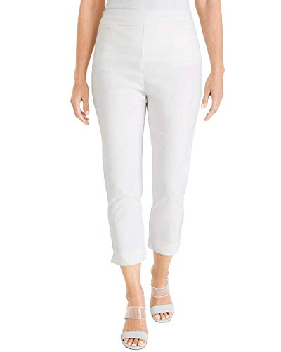 Chico's Women's So Slimming Brigitte Slim Crops Size 14 L (2.5) White ()