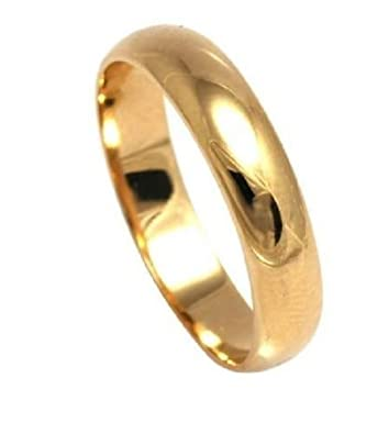 Ah! Jewellery. Gold Filled 5mm Wide Wedding Band Outstanding Quality Ybi19wf