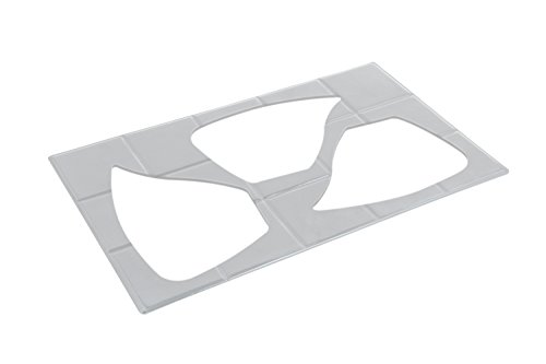 Bon Chef 52157PG Futura EZ Fit Aluminum/Pewter Glo Single Tile for 3 10-1/4