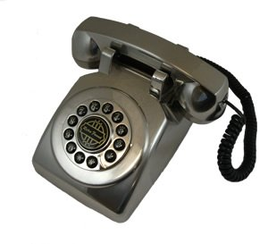 The Highest Quality 1950 Desk phone Silver ()