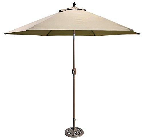 Tropishade 632B19 Premium auto tilt Umbrella, 9′, Beige