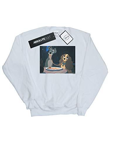 And Disney Spaghetti Entrenamiento De Slurp Mujer The Blanco Tramp Camisa Lady EExfBnq