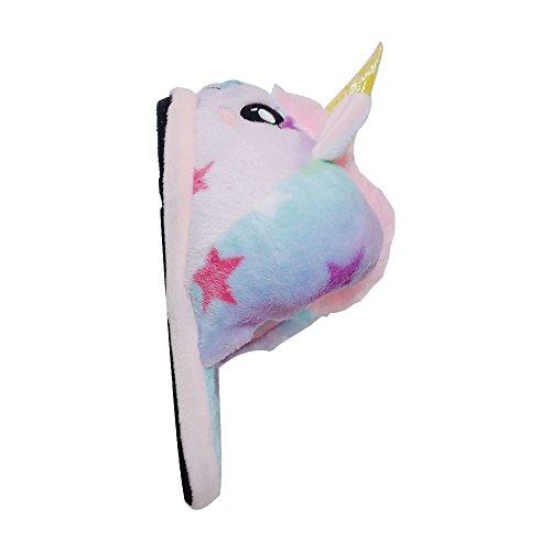 Licorne 36 pointure JYSPORT Étoile Coton Peluche européenne 41 Pantoufles Hiver Chaussons Unicorn Slipper 5OqwAF