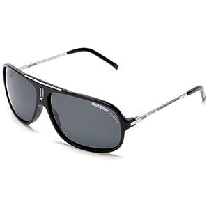 Carrera Cool Navigator Sunglasses,Black And Palladium Frame/Grey Lens,one size