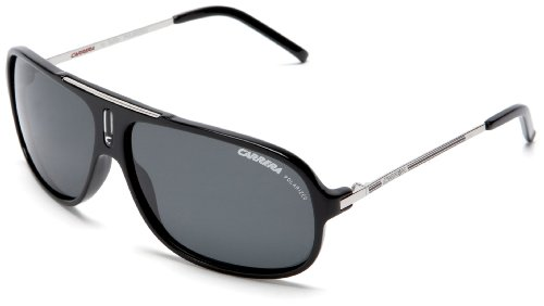 Carrera Cool Navigator Sunglasses,Black And Palladium Frame/Grey Lens,one - Carrera Polarized Sunglasses