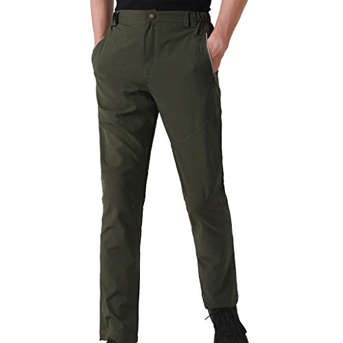 - iYYVV Mens Quick Drying Outdoor Waterproof Trousers Hiking Ski Climbing Tactical Pants Green
